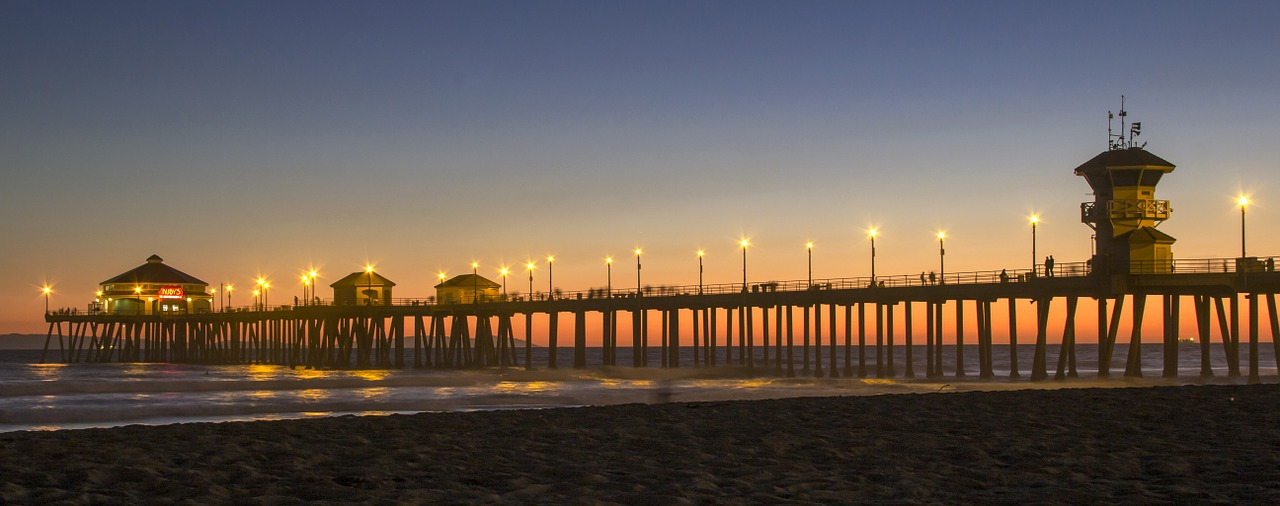 huntington beach kalifornien strand