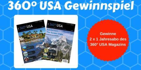 Gewinnspiel 360° USA Magazin